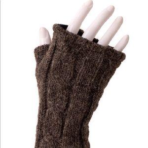 NWT brown fleece lined fingerless gloves